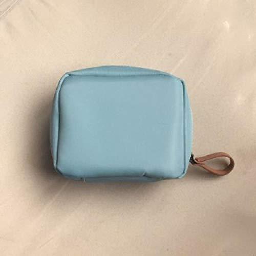 Pliable Grande Capacité Portable Trousse de Toilette Multifonction Sac de Toilette étanche pour Salle de Bain Voyage ImperméableTrousse de Toilette Portable carrée - Bleu Ciel