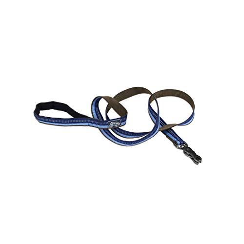 Coastal - K-9 Explorer - Reflective Dog Leash with Scissor Snap, Sapphire, 5/8' x 6'