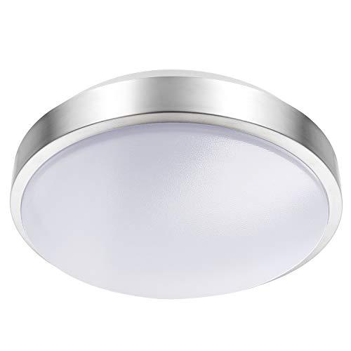 Lineway Motion Sensing Ceiling Light Indoor/Outdoor LED Flush Mount Light Fixture 15W 3000K Ceiling Lamp Radar Sensor for Bathroom Hallway Stairway Garage Porch, 100 Watt Equivalent (Warm White)