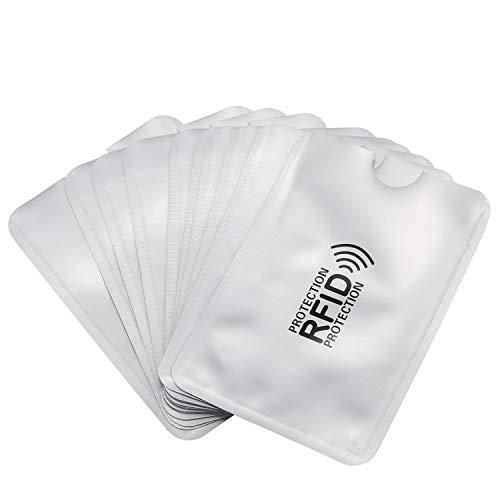 Nrpfell 10 pz foglio di alluminio anti-smagnetizzazione della copertura della carta RFID sacchetto di protezione carta di credito NFC anti-furto id card protector