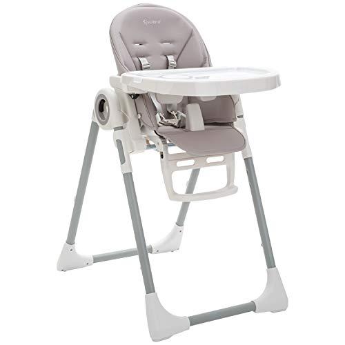 SULENO Kinderhochstuhl LOVIS mitwachsender Hochstuhl klappbar 5-fach höhenverstellbar - vom Baby bis zum Kleinkind (Stone Grey | Grau)