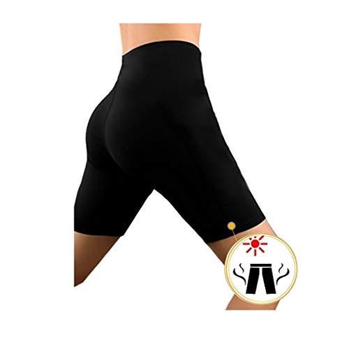 o-day Pantaloni Tuta Donna Pantaloncini Dimagranti Termici Anticellulite per Sudare Tute Donna Leggins Crossfit Donna Fitness Pantaloni Donna Perdita Peso Effetto Sauna (L - 42)