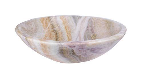 Lavabo in 100% pietra naturale, rotondo, diametro 33cm