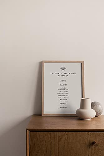 MG global Ashtanga Poster   8 extremidades de yoga imprimible   arte espiritual de la pared   Decoración del hogar para yogui   Yoga Sutra sin marco arte de pared