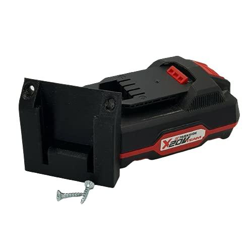 Soporte de batería Parkside X20 V de pared, compatible con taladro atornillador lidl 20 V XTEAM (LOT de 3)