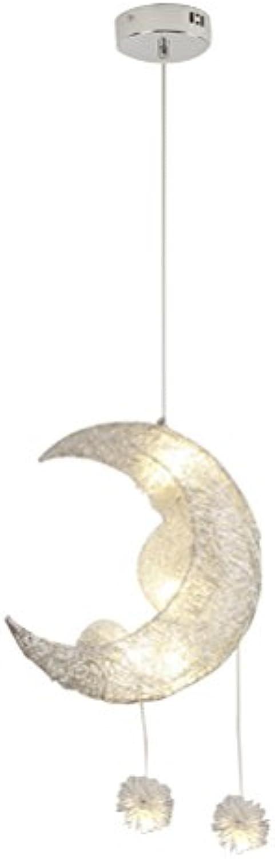 OSALADI Moderne Kronleuchter Licht, 220 V Mond Sterne LED Hngende Deckenleuchte Lampe für Kinder Schlafzimmer Wohnzimmer