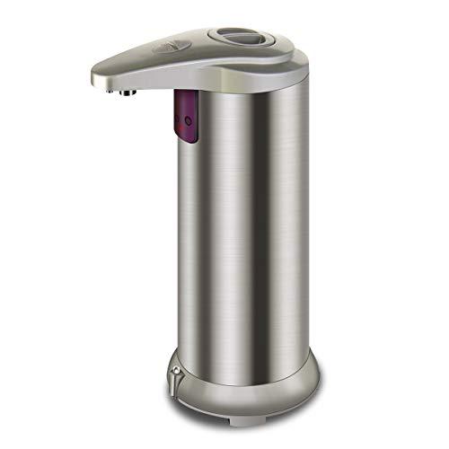 Litthing Dispensador Automático de Jabón Sin Contacto Dispensador de Líquido Acero Inoxidable Doméstico Adecuado para Baño y Cocina Transductor Infrarrojo (Champán)