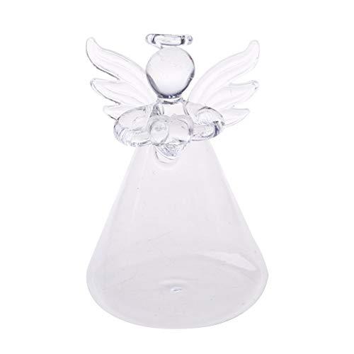 Gjyia Angel Botella de florero de Vidrio Transparente para Colgar en la Pared para Decoraciones de Flores de Plantas