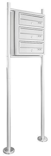 V2aox Edelstahl System Standbriefkasten Briefkastenanlage Briefkasten Postkasten 3 Fächer