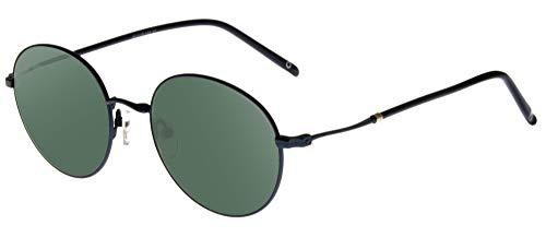 zerOne five - Gafas de sol unisex, modelo Bielmonte, de metal, forma redonda (Azul/Gris Verde)