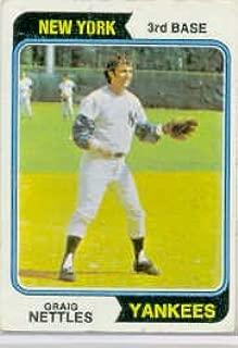 1974 Topps Baseball Card #251 Graig Nettles