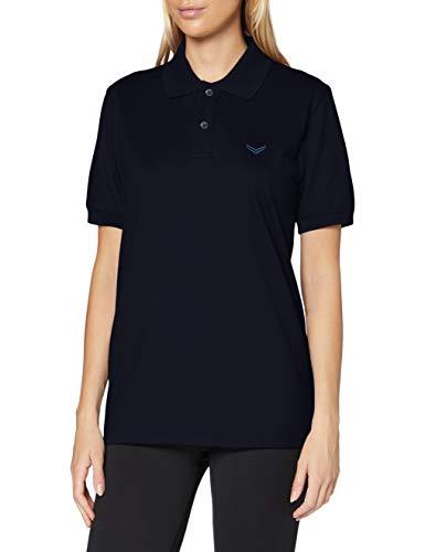 Trigema Damen Polo-Shirt Deluxe Piqué Poloshirt, Blau (blau 046), 48 (Herstellergröße: XL)