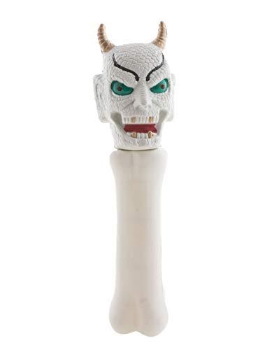 toybakery - Halloween Dekoration, Deko Teufel Stab mit Licht und Geräuschen, 21cm, Devils Stick with Light and Sound, ideal für Jede Halloween Party / Feier, Weiß