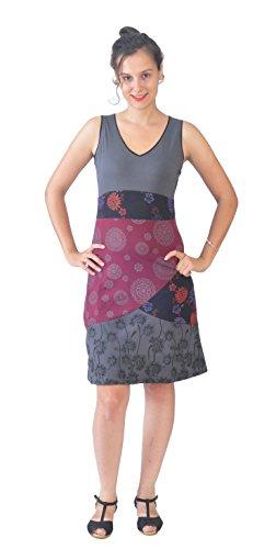 Vestido de Las Mujeres sin Mangas con Multicolor de impresión y el patrón de la Mandala…