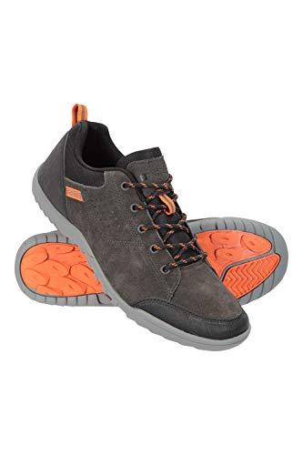 Mountain Warehouse Zapatos para Hombre Phantom II - Parte Superior de Ante Vacuno, Forro de Malla, Transpirable, protección de talón y Puntera - para Caminar, Senderismo