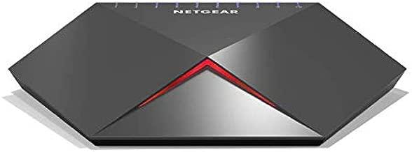 NETGEAR GS810EMX Nighthawk Pro Gaming SX10 Gigabit Ethernet 8 Ports Switch with 2X 10 G/Multi-Gig Uplinks, Black