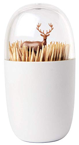 Deer Meadow Toothpick Holder by Qualy Design. Brown Color. Unique Home Design Decoration. Unusual Gift. by Qualy