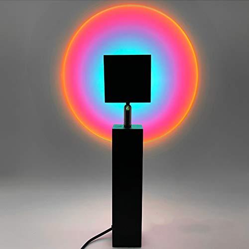 ORPERSIST Lámpara de Proyección Sunset, Lampara de Pie LED, USB Luz de Noche, 180 ° Rotation, para Salón Dormitorio Oficina Decoración Fondo, Casar Reunirse Decoración,Purple Blue