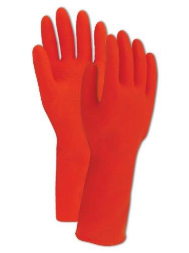 Magid Comfort Flex R843 Latex Glove, Rolled Cuff, 12' Length, 20 mils Thick, Size 9  (One Dozen)