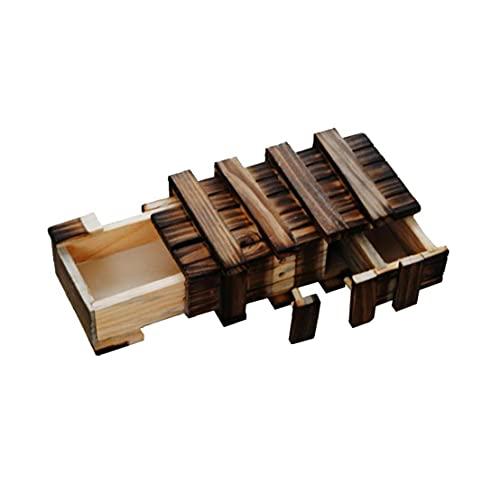 GGOOD Mágica Caja de Madera Puzzle Box Secreto del Compartimiento del Enigma Caja para Adultos Juguetes Secure Extra cajón Secreto Classic