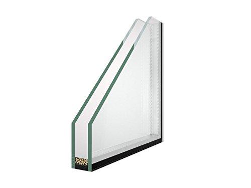 Isolierglas - Glaspaket - Klarglas - 2-Fach Verglasung - Wärmeschutzglas - Fensterscheibe - 0,5 m² - nach Ihrem Wunschmaß