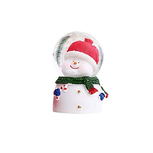 Xiongz Muñeco de nieve de Navidad Santa Claus luminoso bola de cristal muñeco de nieve bola de vidrio adornos decoraciones decoración del hogar regalos para niños
