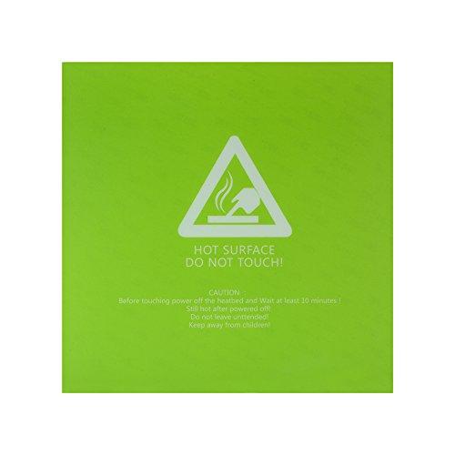 300x300mm Hot Bed Sticker Groen Verwarmd Bed Vierkant mat Bouw Oppervlakteband Deksel met Lijm Terug voor 3D Printer