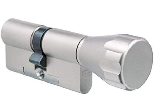 EVVA EPS Knaufzylinder mit 3 Schlüssel + Sicherungskarte, einzelschließend oder gleichschließend, Schließanlage, Zylinderschloss mit Knauf, Länge A:41 mm K:41 mm