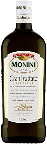 3x Monini Granfruttato Olio extra verdine di oliva 100% italiano Gran Fruttato Extra Vergin Italian Olive Oil 1l