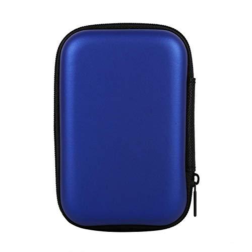 Bolsa de Almacenamiento Digital, 5 Colores Mini Bolsa de Almacenamiento Gadgets Organizador Estuche portátil para Auriculares U Disco Cable de Datos Caliente(Azul Oscuro)