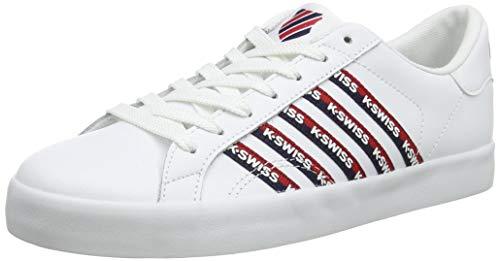 K-Swiss Damen Belmont SO Tape Sneaker, Weiß (White/Corporate 113), 42 EU