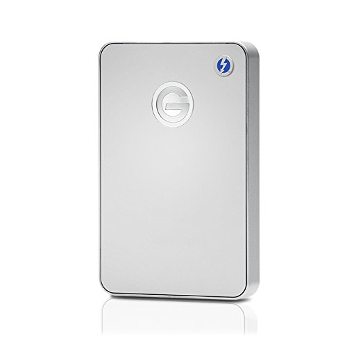 G-Technology 0G03040 G-Drive Mobile Festplatte (1 TB, tragbar, mit Thunderbolt und USB 3.0), silberfarben