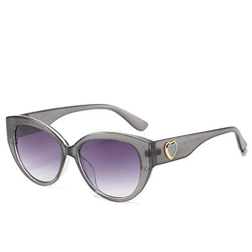 Gafas de Sol Sunglasses Gafas De Sol Estilo Ojo De Gato con Montura Grande De Lujo para Mujer Gafas De Sol De Conducción De Gran Tamaño De Moda Hombres Chicas Amor Gafas