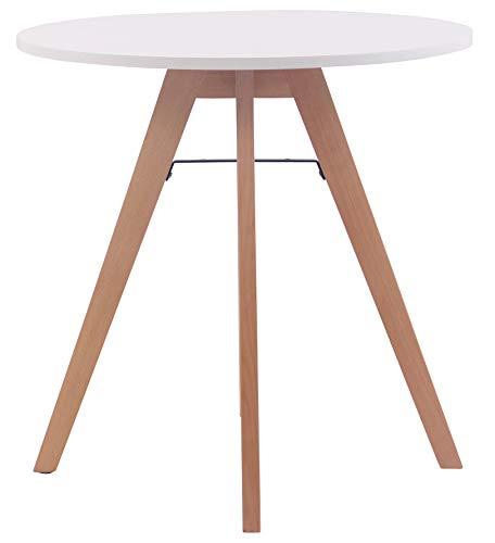 CLP Küchentisch Viktor I Esstisch Mit MDF Tischplatte I Bistrotisch Mit Buchenholzgestell 75 cm