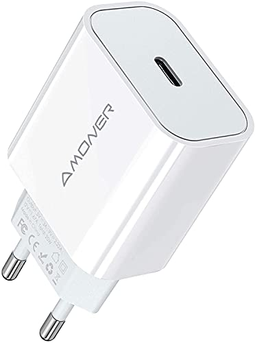 Caricabatterie USB C da 20 W , Amoner Caricatore da Muro, Caricatore da Muro USB Tipo c per iPhone 12 /PRO Mini/ 11 PRO Max XR X XS Max, Huawi, Samsng S10 S9 S8 iPad PRO Xiami ECC