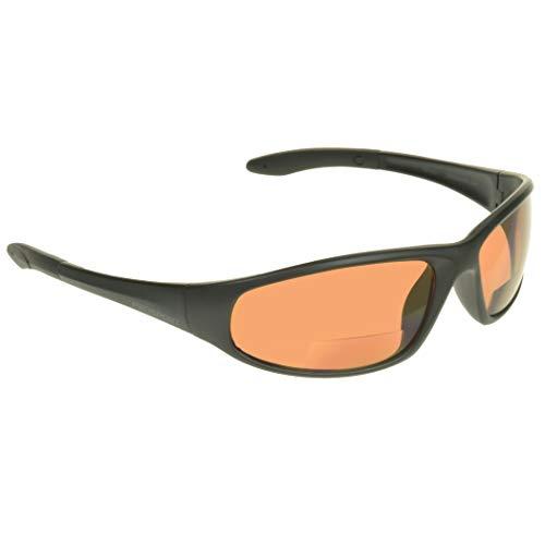 proSPORT Bifocal Sunglasses Safety +1.50 Men Women High Definition Blue Blocking Lenses.