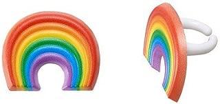 Rainbow Cupcake Rings - 24 pc
