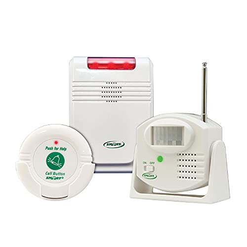 Smart Caregiver® Cordless Motion Sensor and Nurse Call System for Fall Prevention– Know when they need help or are getting up!