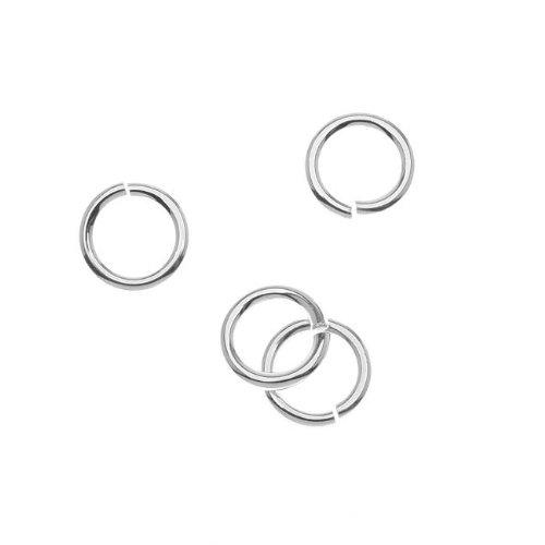 Beadaholique Sterling Silver Jump Lock Jump Rings 10mm 14 Gauge (4)