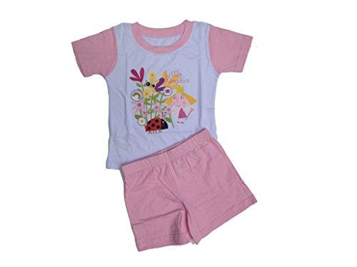 Ben & Hollys - Pigiama corto, colore: Rosa Colore: rosa. 92 cm/98 cm 2-3 anni