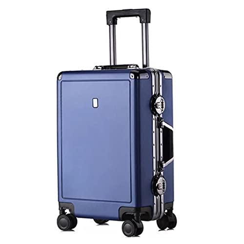 Moda de lujo de las mujeres viaje carro equipaje bolsa de negocios cabina Rolling equipaje maleta creativa 20'24 pulgadas, granate, 24'/61 cm,
