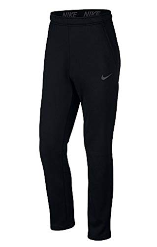 Nike Mens Tapered Therma Training Sweatpants (Black/Carbon Heather, Large)
