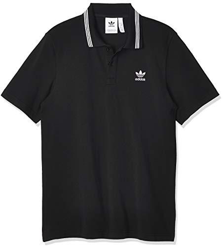 adidas Herren Pique Polo Shirt, Black, L