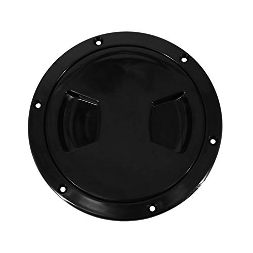 Nbxypeaus Marine Boat for Kayak Canoe Circular Hatch Cover Deck Plates for Boats, Black, 5 inch