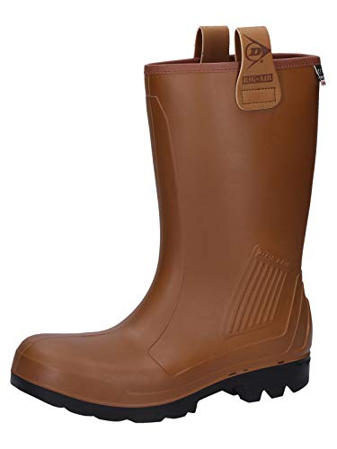 Dunlop S5 Gummistiefel C462743 - Botas de agua unisex, color marrón negro, talla 45
