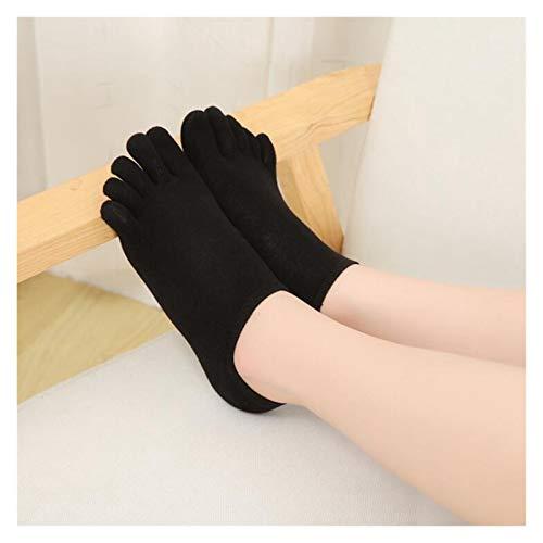 JSJJAYU chaussette Calcetines de algodón de Cinco Dedos Calcetines de Corte bajo de Las Mujeres con talón de Sudor Absorbente de Cinco Dedos Calcetines de los Dedo de Desodorante Invisibles