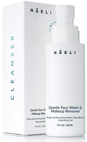 Face Cleanser & Makeup Remover, 3-in-1 Gentle Face Wash, SuperBerry Antioxidant Hydrating Gel, Evens Skin Tone & Brightens Complexion For Women and Men, 4 oz.