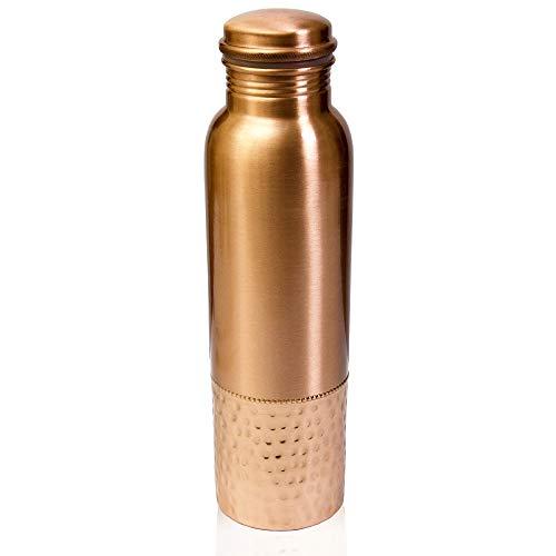 COPPER WATER BOTTLE – 100% Pure Copper Bottle. Leak Proof Water Bottle Made from 100% Copper, Copper Vessel for Drinking Water, Great Water Bottle for Sports, Yoga & Everyday Use by Bridge