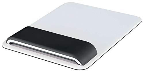 Leitz Ergo WOW Mauspad mit verstellbarer Handgelenkauflage, Zwei Höheneinstellungen, Schwarz/Weiß, 65170095