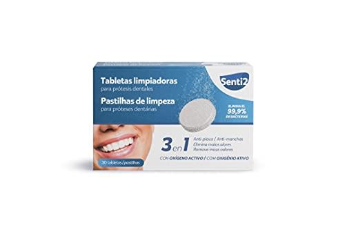 Senti2 Tabletas Limpiadoras Para Prótesis Dentales - Es, Mentolado, 30 Unidad